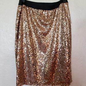 Sequin skirt 1x 2x 3x elastic waist